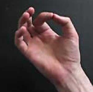 Mudra - Hand position for this meditation
